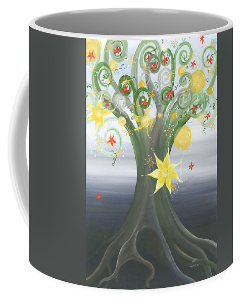 Spiritual Landscape Coffee Mug featuring the painting Beautiful You by Catt Kyriacou