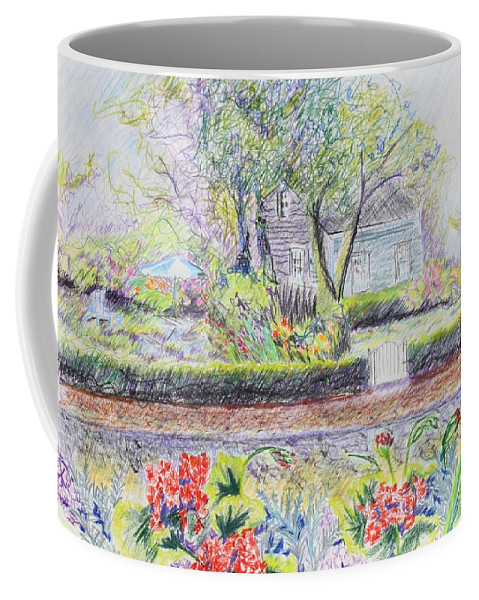 Landscape. Coffee Mug featuring the drawing Bed And Breakfast View by Thomas J Nixon