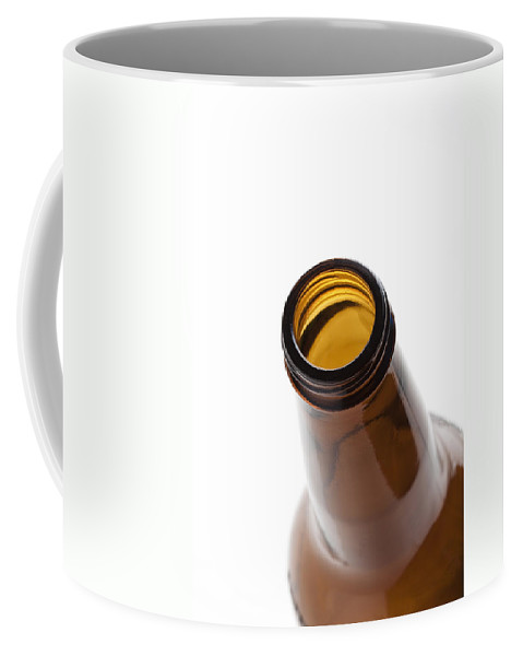 Beverage Coffee Mug featuring the photograph Beer Bottle Neck 3 by John Brueske