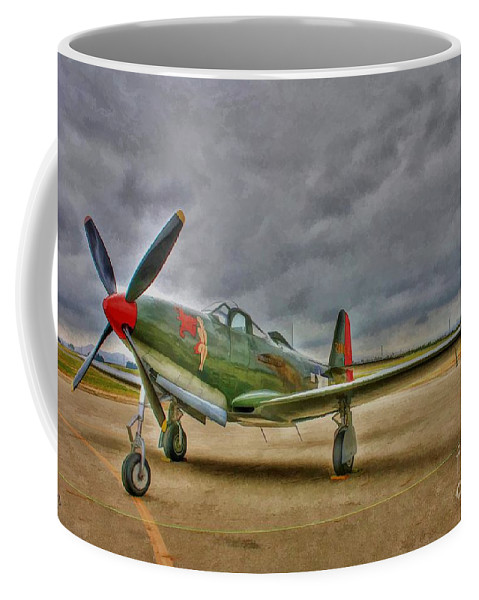 Bell P-63 Kingcobra Coffee Mug featuring the digital art Bell P-63 Kingcobra by Tommy Anderson