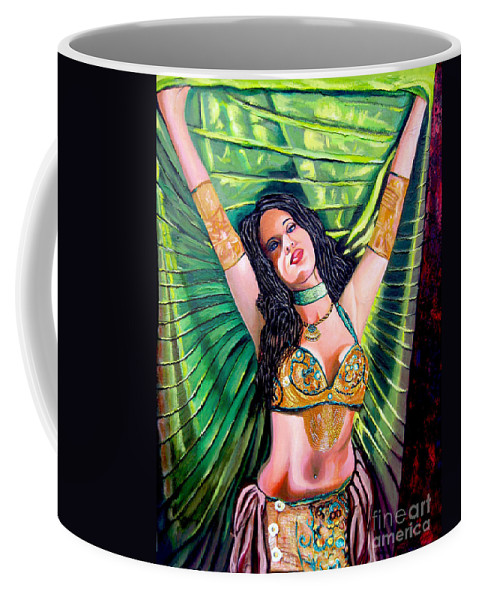 Girl Coffee Mug featuring the painting Belly Dancer by Jose Manuel Abraham