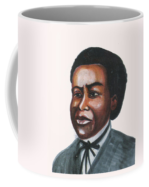 Portraits Coffee Mug featuring the painting Benjamin Banneker by Emmanuel Baliyanga