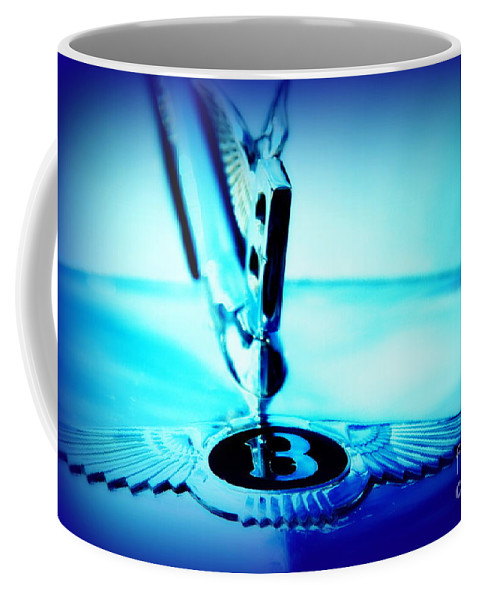 Bentley Coffee Mug featuring the photograph Bentley Hood Ornament by Susanne Van Hulst