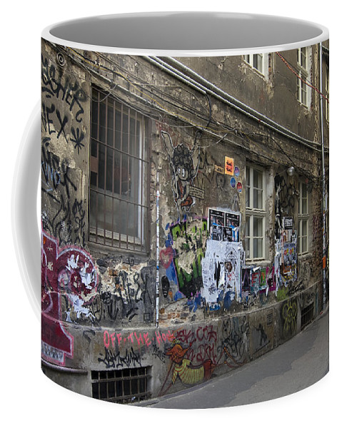 Graffiti Coffee Mug featuring the photograph Berlin Graffiti - 1 by RicardMN Photography