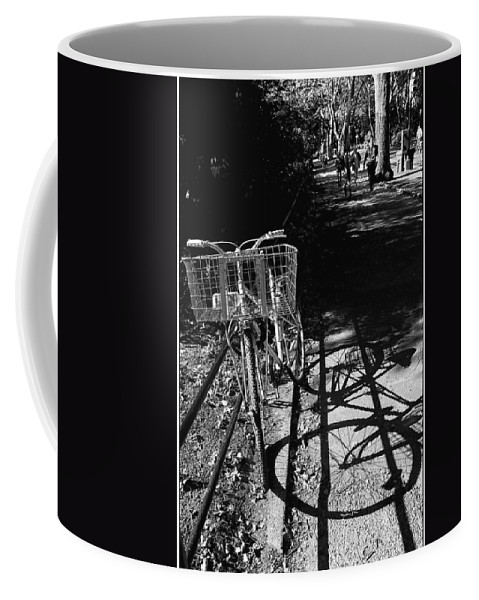 Bike Coffee Mug featuring the photograph Bicycle Shadow 2 by Madeline Ellis