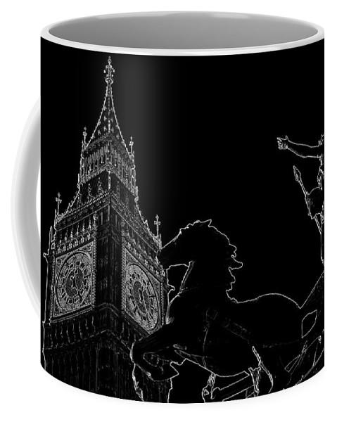 Water Coffee Mug featuring the digital art Big Ben And Boudica by David Pyatt
