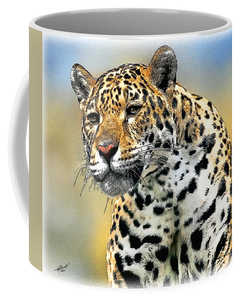 Big Cat Coffee Mug featuring the painting Big Cat by Tom Schmidt