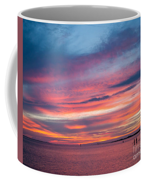 Sunset Coffee Mug featuring the photograph Big Florida Sunset by Stephen Whalen