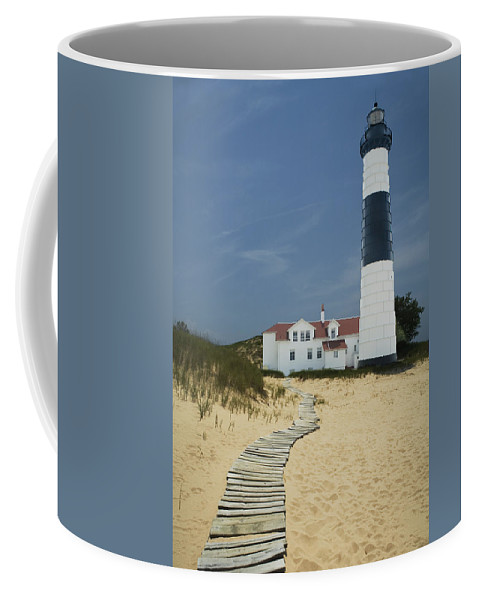 Art Coffee Mug featuring the photograph Big Sable Lighthouse In Ludington Michigan Number 3 by Randall Nyhof