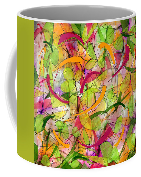 Abstract Coffee Mug featuring the painting Bird Song by Lynne Taetzsch