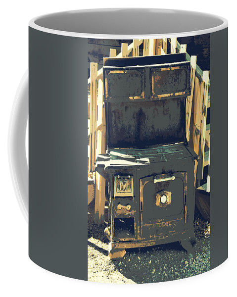 Old Stove Coffee Mug featuring the photograph Biscuits In The Oven by Diane montana Jansson