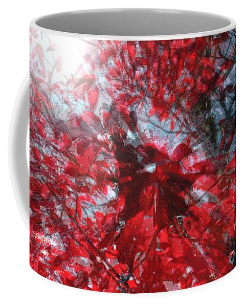 Black And Red Crescendo Coffee Mug featuring the photograph Black and Red Crescendo by Seth Weaver