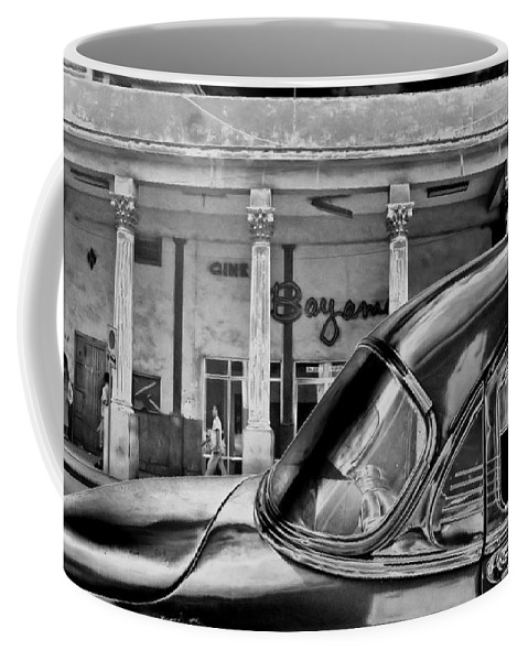 Cuba Coffee Mug featuring the photograph Black Car Havana by Andrew Fare