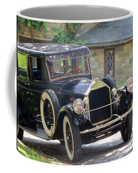 Model Coffee Mug featuring the photograph Black T by Art Dingo