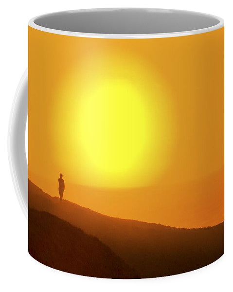 Blazing Sun Coffee Mug featuring the photograph Blazing Sun by Wes and Dotty Weber