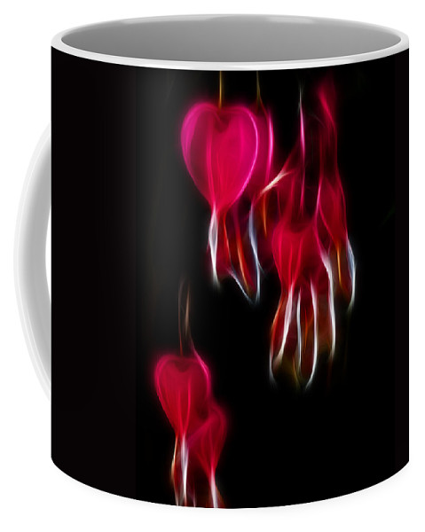 Coffee Mug featuring the photograph Bleeding Hearts 02 by Paul Ward