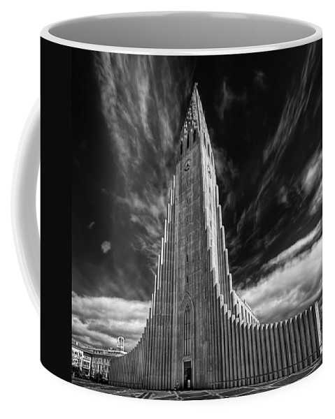 Hallgr�mskirkja Coffee Mug featuring the photograph Blessed Be by Evelina Kremsdorf