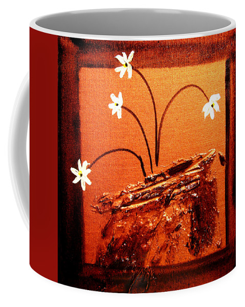 Surreal Painting Prints Coffee Mug featuring the painting Bliss 1 by Henry Parsinia