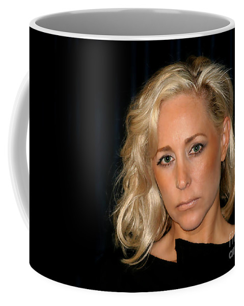 Person Coffee Mug featuring the photograph Blond Woman by Henrik Lehnerer