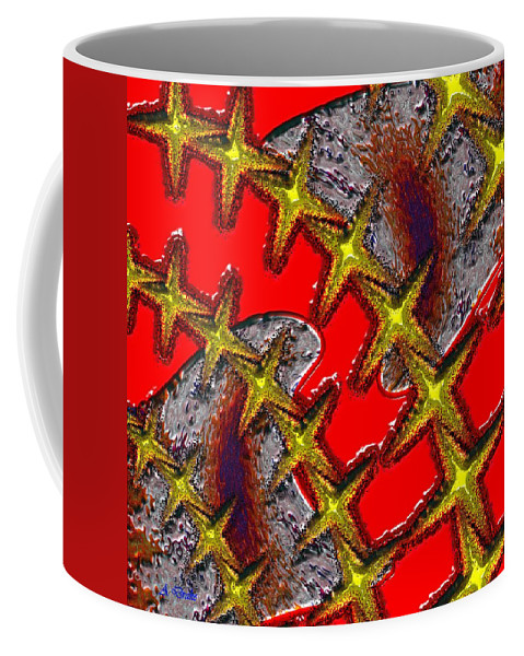 Blood Coffee Mug featuring the digital art Blood On The Wire by Alec Drake