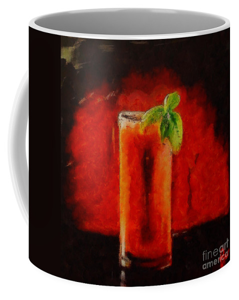 Coctail Coffee Mug featuring the painting Bloody Mary Coctail by Dragica Micki Fortuna