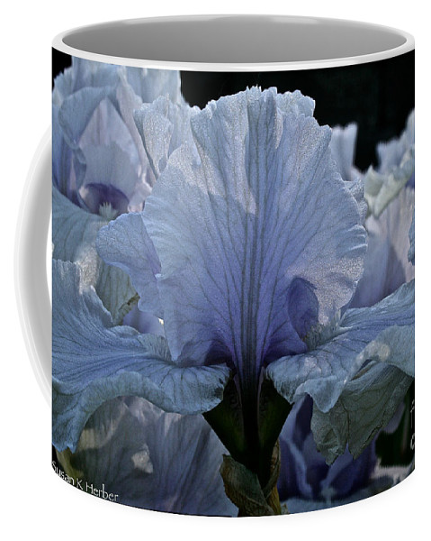 Plant Coffee Mug featuring the photograph Blooming Iris by Susan Herber