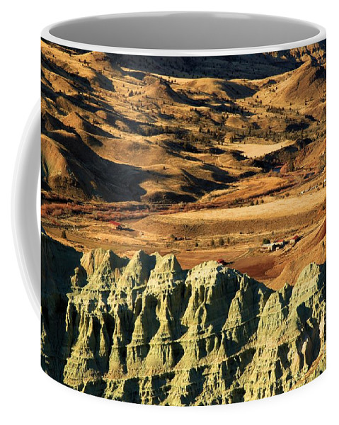 John Day Fossil Beds National Monument Coffee Mug featuring the photograph Blue Basin Valley by Adam Jewell