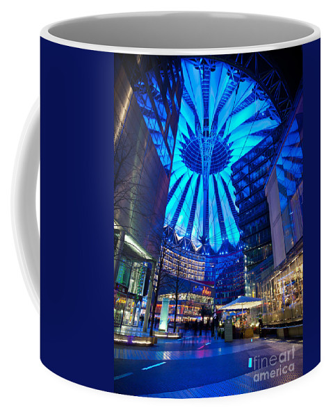 Sony Center Coffee Mug featuring the photograph Blue Berlin by Mike Reid