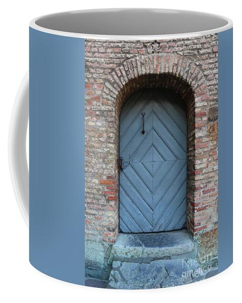 Door Coffee Mug featuring the photograph Blue Door by Carol Groenen