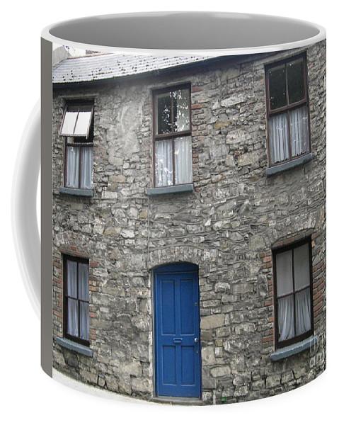 Closed Door Coffee Mug featuring the photograph Blue Dublin Door by Arlene Carmel