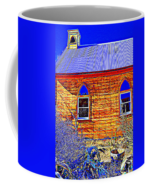 Chapel Coffee Mug featuring the photograph Blue Eyes by Diane montana Jansson