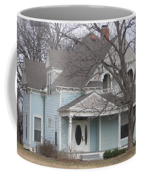 Coffee Mug featuring the photograph Blue House by Amy Hosp