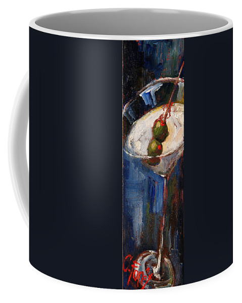 Martini Coffee Mug featuring the painting Blue Martini by Carole Foret