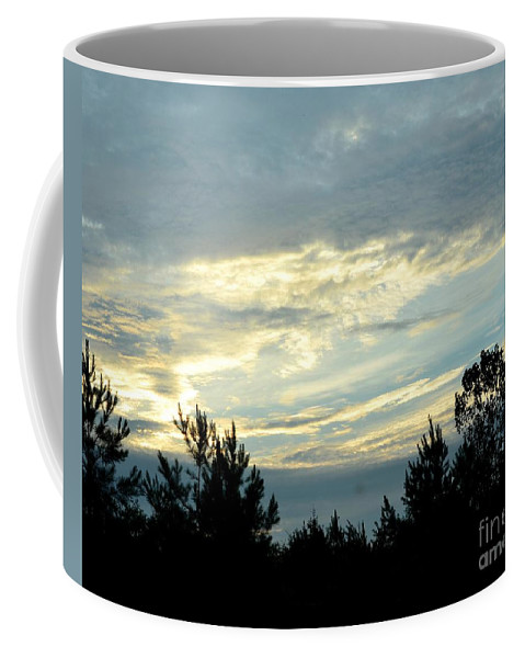 Blue Coffee Mug featuring the photograph Blue Morning by Maria Urso