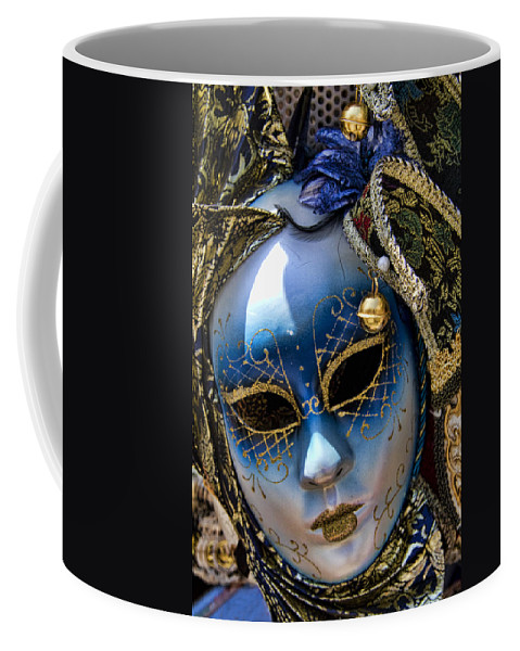 Blue Coffee Mug featuring the photograph Blue Venetian Mask by David Smith