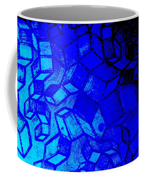 Etching Coffee Mug featuring the photograph Blue Zinc by Chris Berry