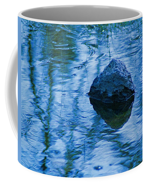 Rock Coffee Mug featuring the photograph Blued Rock by Ben Upham III