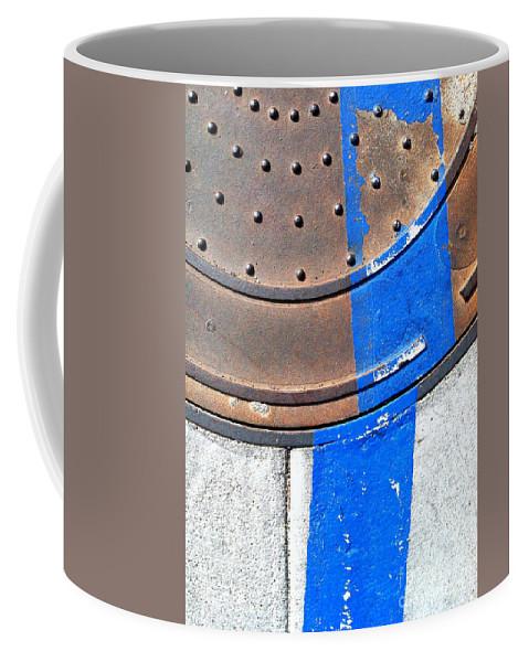 Marlene Burns Coffee Mug featuring the photograph Bluer Sewer One by Marlene Burns