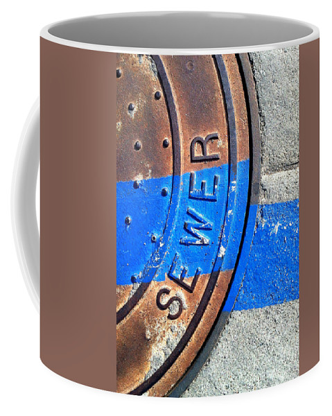Marlene Burns Coffee Mug featuring the photograph Bluer Sewer Three by Marlene Burns