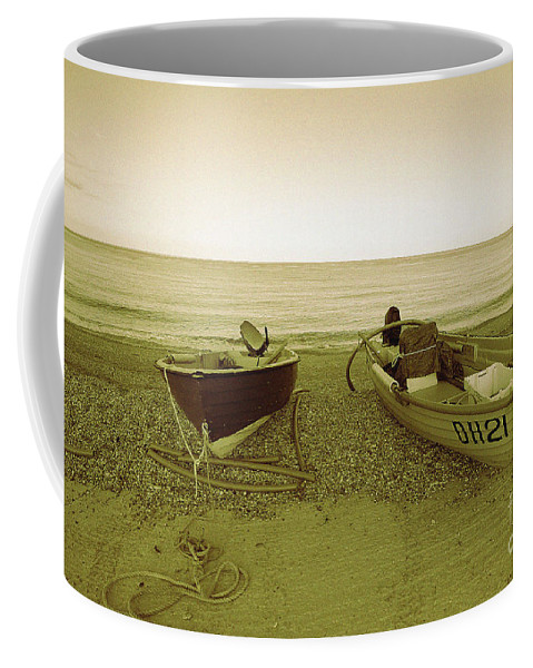 Boats Coffee Mug featuring the photograph Boats At Beesands by Rob Hawkins