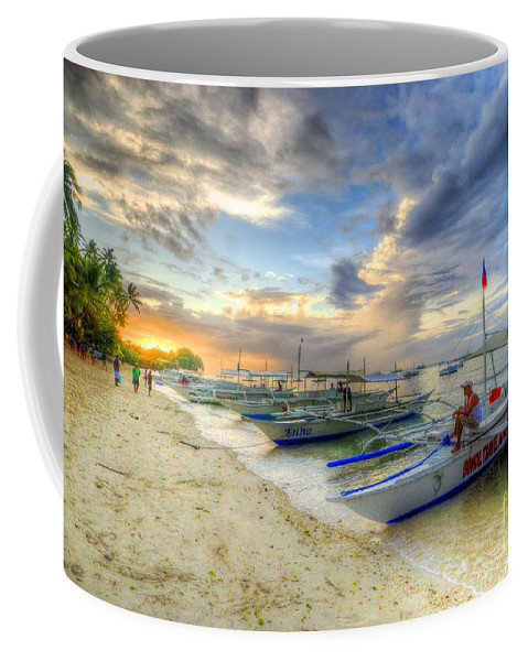 Yhun Suarez Coffee Mug featuring the photograph Boats Of Panglao Island by Yhun Suarez
