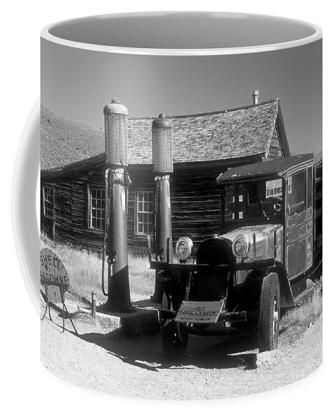 Bronstein Coffee Mug featuring the photograph Bodi Gas Station by Sandra Bronstein