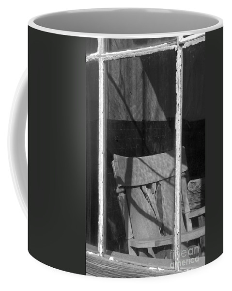 Sandra Bronstein Coffee Mug featuring the photograph Bodi Ghost Town Window by Sandra Bronstein