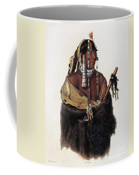 1844 Coffee Mug featuring the photograph Bodmer: Young Mandan by Granger