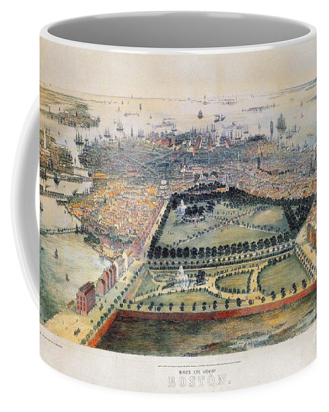 1850 Coffee Mug featuring the photograph Boston, 1850 by Granger