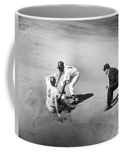 1961 Coffee Mug featuring the photograph Boston: Baseball Game, 1961 by Granger
