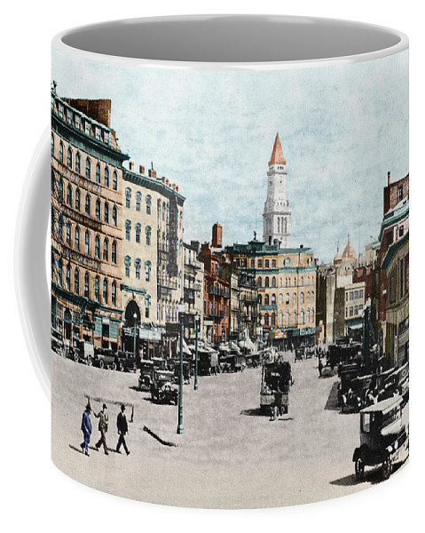 1919 Coffee Mug featuring the photograph Boston: Bowdoin Square by Granger