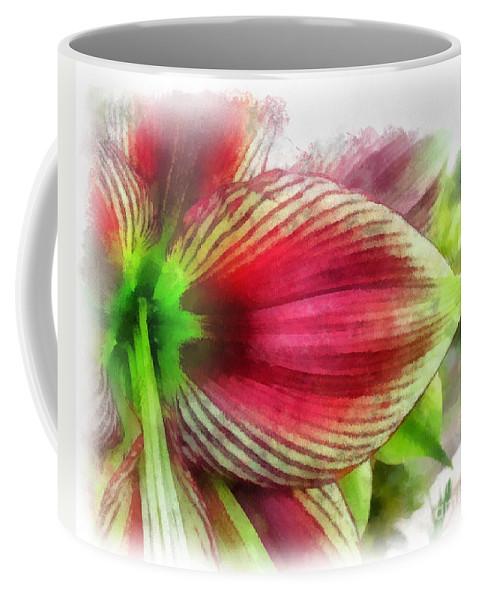 Flower Coffee Mug featuring the mixed media Botanical 01 by Dawn Serkin