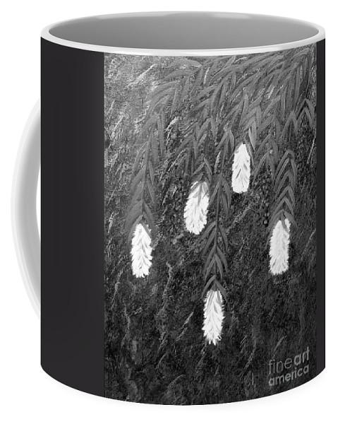 Bottlebrush Plant Coffee Mug featuring the painting Bottlebrush Plant B W by Barbara Griffin