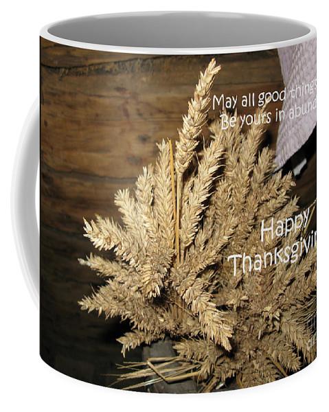 Abundance Coffee Mug featuring the photograph Bounty. Thanksgiving Greeting Card by Ausra Huntington nee Paulauskaite